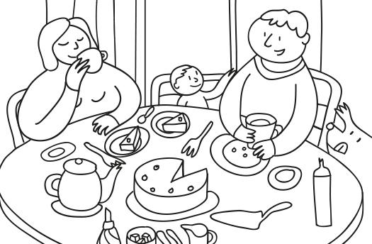 Illustrationen für Flüchtlinge