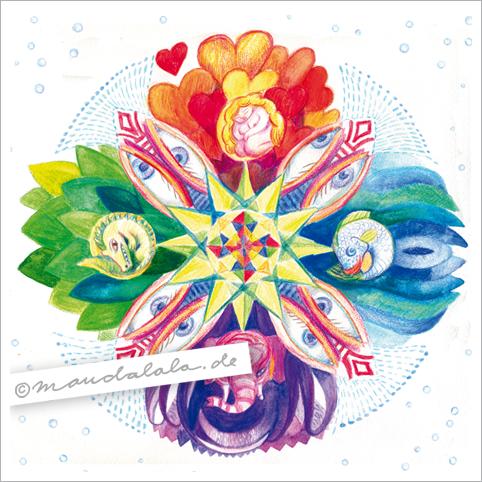 4 Elemente - Mandala