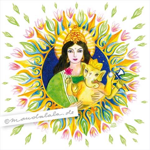 Parvati & Ganesha - Mandala