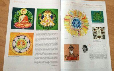 "Mandalala-Illustrationen im Magazin ""Das Wesentliche"""