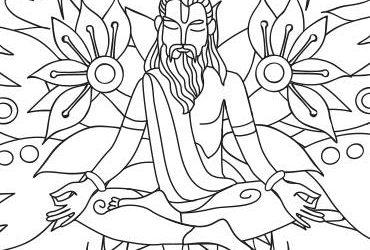 Yoga Vasishta: Ausmalbild für das Yoga Vidya Journal