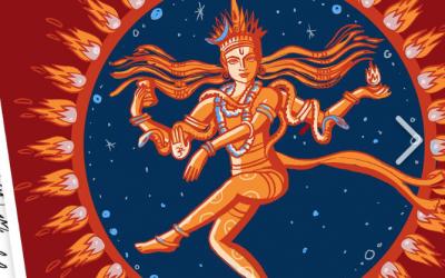 Der tanzende Shiva als Nataraj ist Logo und T-Shirt Motiv für Yoga Vidya