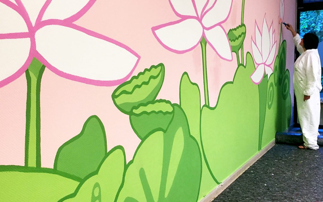 Wandgestaltung für das Cafe Maya im Haus Shanti bei Yoga Vidya