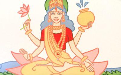 Wandbild Gangadevi im Mahameru